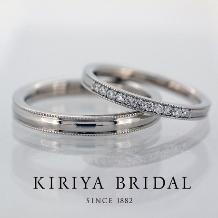 KIRIYA BRIDAL (宝石の桐屋)_シンプル派必見!質感を追求した新作ミルグレインリング!