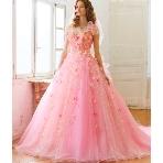 Wedding Costume HIROTA●HIROTAグループ:■桂 由美■重なったチュールが印象的なヒロインピンクのドレス