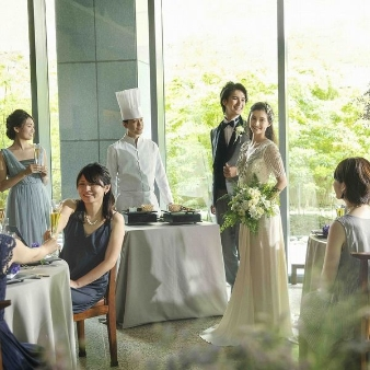 響 風庭 赤坂(HIBIKI):【10名~家族婚】緑溢れる貸切会場×出来立て料理おもてなし体験