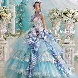 ブライダルコスチューム みつもと:【ステラ・デ・リベロ】様々な種類のレースを使ったラブリーなドレス