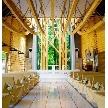 軽井沢クリークガーデン:【旧軽井沢の森でナチュラルW】木とガラスのチャペル体験ツアー