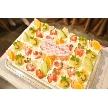 ダイニングスペース WEDDING HALL 名駅店:ウェディングホールオリジナルケーキはボリューム満点、フルーツがいっぱい!
