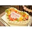 ダイニングスペース WEDDING HALL 名駅店:プラン内料金でかわいいハート型ウェディングケーキも付いてます♪