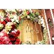 UNICO 西梅田:受付の背後のお花が綺麗♪
