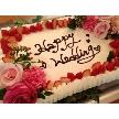 UNICO 西梅田:お好みのお色の花とケーキを合わせた特別ウェディングケーキ!カラードレス、ブーケ等のい合わせたコーディネートが可能に♪
