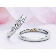 ハート&アイ_Pink Dolphin Diamond 結婚指輪