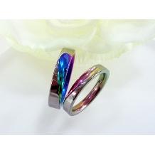 ハート&アイ_TITANRAINBOW (チタンレインボー) 結婚指輪
