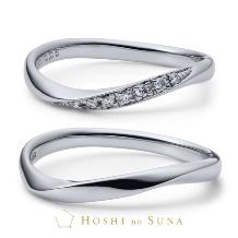 ルイ エ レイ by CASA'DE YOKOYAMA_【星の砂】アリア ひとつのダイアモンドの原石をふたりの指輪に留める結婚指輪