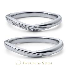 ルイ エ レイ by CASA'DE YOKOYAMA_【星の砂】 イリスひとつのダイアモンドの原石をふたりの指輪に留める結婚指輪