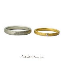 アトリエn.s.j.s (エヌ・エス・ジェイ・エス):◆1本8万円台~◆ 世界にふたつとないリングの表情は温もり・トレモランテ