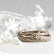 """takuho BRIDALRING_ぬくもりの""""羽フェザー""""デザインのマリッジリングは味わい深~い夫婦の愛のかたち☆"""