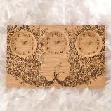 木の暮らし:【ネット簡単注文】ご両親に贈る感謝のキモチ★ 美しい物語が描かれた三連時計