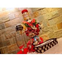 ナチュラルイタリアン Hibiki:無料オプションのキャンドルサービス、高砂テーブルのキャンドルです。