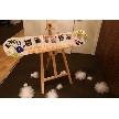 W CAFE 心斎橋(ダブリューカフェ):手作りのウエルカムボード☆お二人の思い出を形にしました。