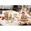 W CAFE 心斎橋(ダブリューカフェ):パティシエが作るオリジナルケーキ。ケーキカットイベントの後はビュッフェコーナーでお召し上がりいただけます。