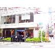 W CAFE 心斎橋(ダブリューカフェ):お店の正面からの様子です。(1Fカフェスペース入り口)
