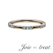 Joie de treat. ジョア ドゥ トリート_【ジョア ドゥ トリート】ピンクゴールドに繊細なダイヤが輝く肌馴染みの良いリング