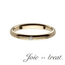 Joie de treat. ジョア ドゥ トリート_【永遠を誓うマリッジリング】日常のファッションもオシャレに決まるミル打ちデザイン