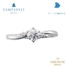 GRAVIE(グラヴィ)_【ゼクシィ本誌掲載中】CAMPANILE_カンパニール ヴェールの嫋やかさ