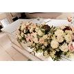 Alice aqua garden 品川:高砂席には披露宴会場から持参した装花をセッティング!