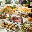 Alice aqua garden 品川:彩豊な前菜やオードブルの数々