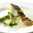 Alice aqua garden 品川:鱸のロースト アスパラとクリームソース添え