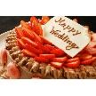 Alice aqua garden 品川:イチゴとチョコレートの豪華ウエディングケーキ