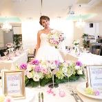 HANA TSUBAKI (花椿):ドレスにも合わせやすい白の会場です♪