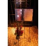 GIRAFFE osaka:イーゼル(無料) / 可愛いデザインのウェルカムボードのスタンドも無料。