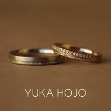 WEDY(ウェディ)_【YUKA HOJO】クラフト感と高級感ある優しい輝き Path~小径~