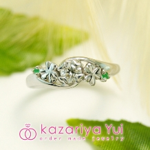 kazariyaYui_【フルオーダーだから叶う*世界に一つの指輪】クローバーをデザインした婚約指輪