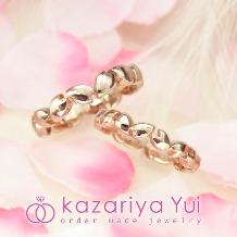 kazariyaYui_【シンプル*こだわり 世界に一つのオーダーメイド】花びらモチーフの指輪