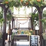 LoyKratong Resort(ロイクラトン リゾート):グリーン装飾のメインテーブル
