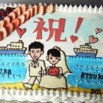 HARBOR'S CAFE 横浜港大さん橋店:大さん橋らしいケーキも◎