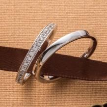 パルテ熊本_☆花嫁に大人気のダイヤ17石ハーフエタニティ!!結婚指輪との重ね付けで華やかに☆