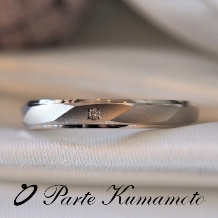 Parte Kumamoto_【2本で8万円以内】マット加工&ウェーブ模様のデザイン☆彼も着けやすい結婚指輪に