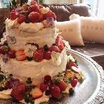 ブラッスリーカフェ ルコンテ(Le Conte):ケーキはイメージに合わせてお作りしております!