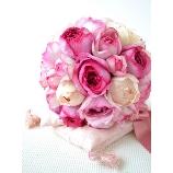 Atelier Tedia:【ボヌール】ピンクの可愛いオールドローズのみの贅沢ブーケ☆