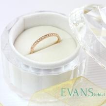 EVANS BRIDAL(エヴァンスブライダル)_気軽に普段使いできるミル打ちも可愛い細身のハーフエタニティリング【EVANS】