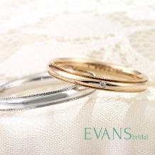 EVANS BRIDAL_繊細なミル打ちを施したアンティークテイストのシンプルデザイン【EVANS】