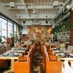 fine diner&salon 7  -NANA-:☆自然光が溢れ天井高の開放的空間はランチウエディングや1.5次会、海外挙式後のお披露目会に大人気。