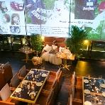 fine diner&salon 7  -NANA-:◇大型パノラマピクチャーが大人気!全面スクリーンでお気に入りのお写真をたっぷりお披露目出来る!サプライズ演出にも◎