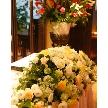 Blue Garden(ブルーガーデン):メインテーブルにはお花!手配も致します。もちろん披露宴からのお持込も無料でOK!