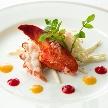 Alice aqua garden Tokyo 銀座:オマール海老 爪のサラダ前菜風仕立て