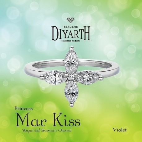 DIYARTH(ディヤース):美しい花びらをイメージした可憐なリング(マーキスカットには鑑定書4枚付き)