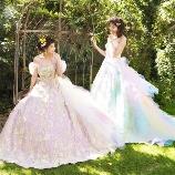 THE HANY:【春夏挙式・ホテル婚にもおすすめ】クレールとアミラ☆総レース・フリルのドレス
