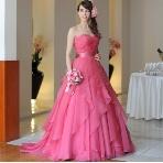 la chambre de Lotta(ラ シャンブル デ ロッタ):■グランマニエ■花びらのようなフリルがエレガントなローズピンクのカラードレス