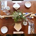 cafe104.5:おふたりらしいテーブルコーディネート