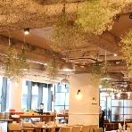 cafe104.5:自然光がたっぷりと差し込みます