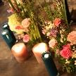 cafe104.5:会場内もお花でいっぱいに